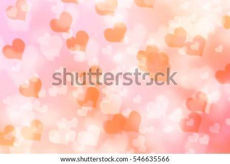 bokeh heart background valentine day #546635566