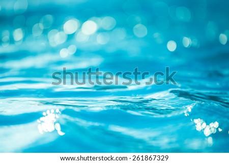 Bokeh light background in the pool. - Shutterstock ID 261867329