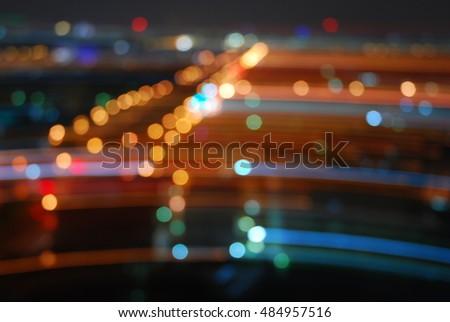 bokeh light dot sereen wallpaper mornitor mobile - Shutterstock ID 484957516