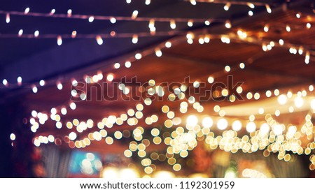 bokeh light festival background with copy space