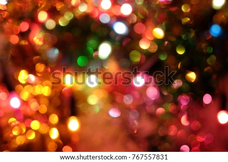 Bokeh lights background. Abstract multicolored light.Christmas concept.