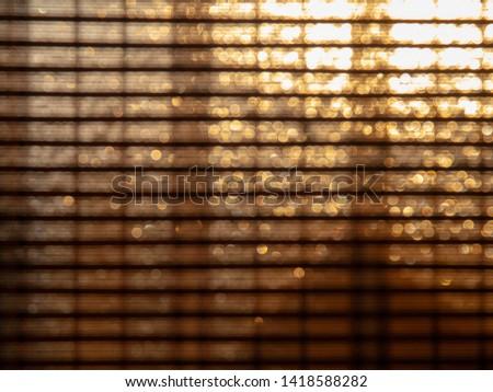 Bokeh lights of bamboo window shade #1418588282