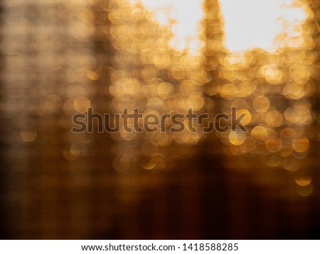 Bokeh lights of bamboo window shade #1418588285