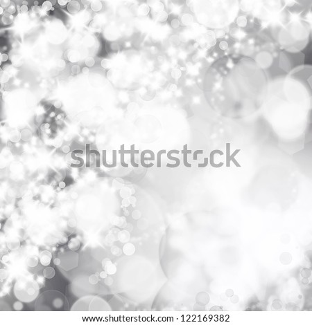 Bokeh lights on a grey background - stock photo