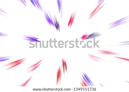 Bokeh multicolored lines on white background, abstraction, abstract speed light motion blur texture, star particle or space traveling,  colored extrusion effect, hallucination effect #1349551736
