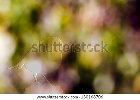 Bokeh of foliage in autumn, photographic effect for background