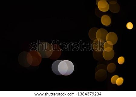 Photo of  Bokeh of lights on black background
