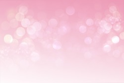 Bokeh on pink blurred background