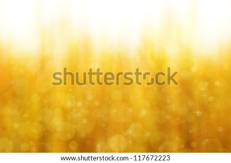bokeh on yellow background