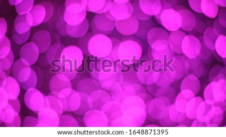 Bokeh with LED bulbs. Christmas decoration lights Beautiful abstract bokeh.    stock photo