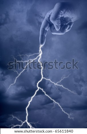 Bold of Lightening from the hand of God