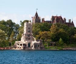 Boldt Castle on Heart Island, Thousand Islands, Alexandria Bay, New York State