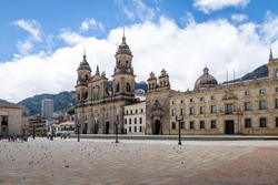 Bolivar Square and Cathedral - Bogota, Colombia