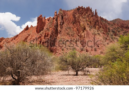 Bolivia - the most beautifull Andes in South America. Tupiza landscape are full of colored rock, hills, mountains and canyon.