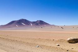 Bolivian landscape, Salvador Dali desert view. Beautiful Bolivia