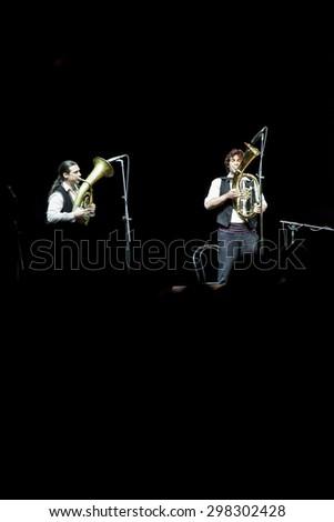 Bollate (Italy) 07.04.2013 - Concert by the Bosnian musician and composer Goran Bregovic in the Festival of Villa Arconati.