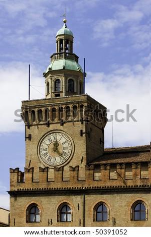 Bologna - Emilia Romagna - Italy - Orologio del Municipio Piazza Maggiore
