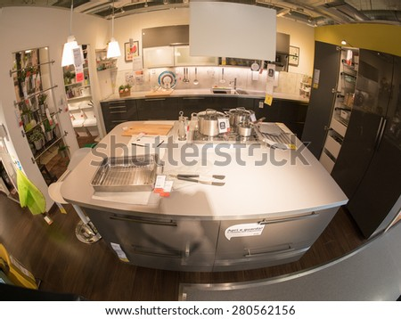 BOLOGNA, ITALY - April 19, 2015: Inside Ikea Bologna. Ikea is present in Italy for 25 years and has opened in Bologna in 1997.