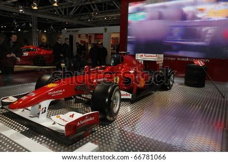 BOLOGNA ITALY-DEC 4: Bologna Motor Show Ferrari racer. on December 04, 2010 in Bologna Italy