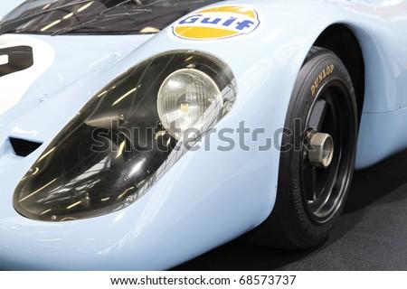 BOLOGNA, ITALY  -DECEMBER 4: Bologna Motor Show, Porsche racing on December 04, 2010 in Bologna Italy