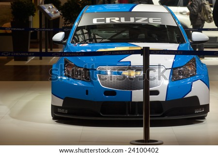 BOLOGNA, ITALY - DECEMBER 15: new Chevrolet Cruze WTCC that will compete in the 2009 World Touring Car Championship (WTCC), mor show.  December 15, 2008 in Bologna, Italy.