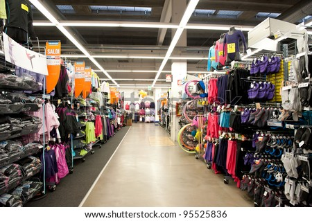 BOLOGNA, ITALY - FEBRUARY 4: Decathlon Sport Store, February 4, 2012 in Bologna, Italy. Decathlon is the largest sporting goods reseller with a turnover of USD 6,123,000 (2007 data).