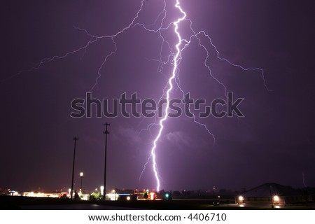 bolt, cloud, landscape, lightning, rain, storm, thunder, weather