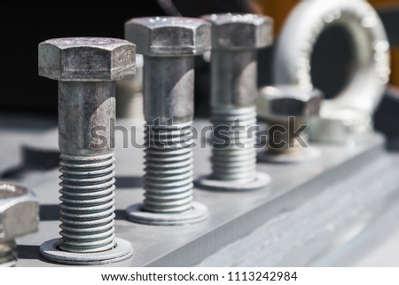 bolts and metal fittings for construction and repair