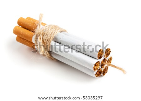 Bomb Cigarette Isolated on white background