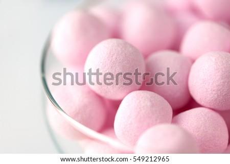 Bon Bon sweets in glass bowl
