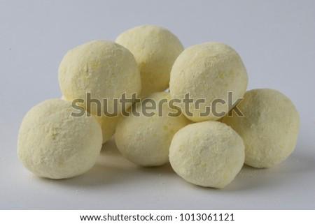 Bon Bon type sweets isolated on white background