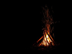 bon fire at camping area
