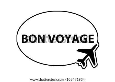 bon voyage - airplane sign