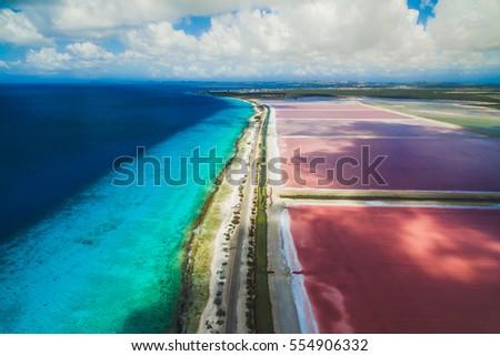 Bonaire salt pans