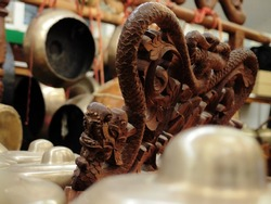 Bonang, a Dragon shaped Gamelan instrument from Indonesia