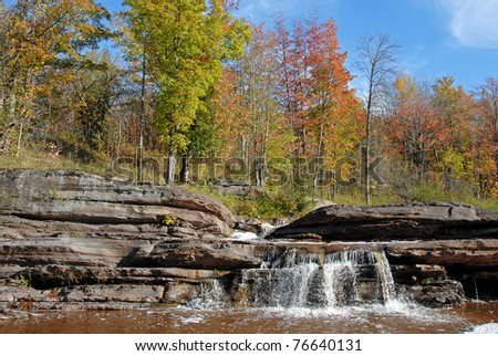 bonanza falls near porcupine wilderness state park Michigan