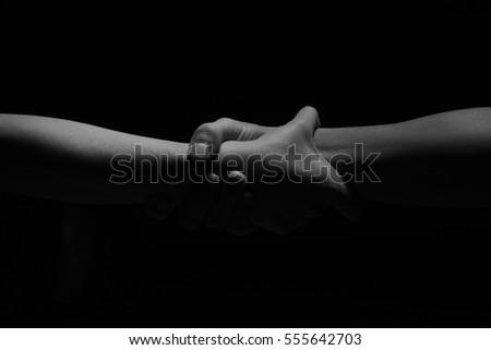 Bonded hands #555642703