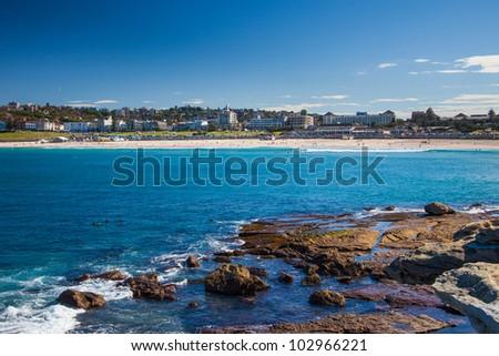 Bondi beach rocks, Sydney, Australia
