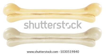 Bone beige white artificial long