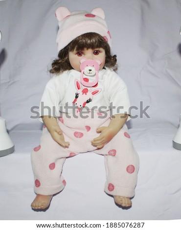 boneka lucu very cute baby dolls like real ones Stock photo ©