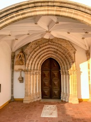 Bones Chapel and Church in Evora, Skull chapel in Sao Francisco Church - Évora
