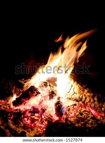 Bonfire Warms Campsite