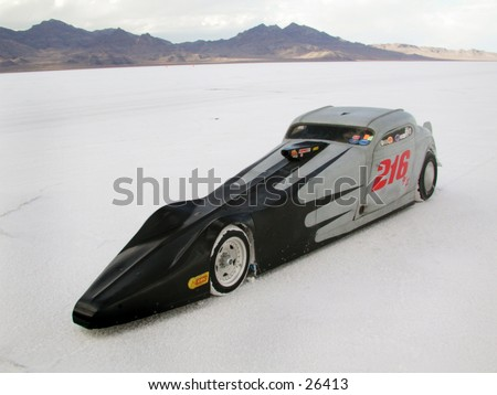 Bonneville Land speed racing.