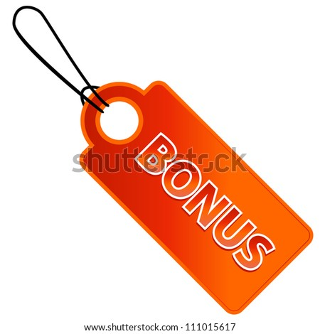 Bonus tag with price list - stock photo