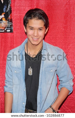 Booboo Stewart at the Celebrity Karaoke and US Troop Care Package Party, Locals Sports Bar & Grill, Los Angeles, CA. 04-06-10