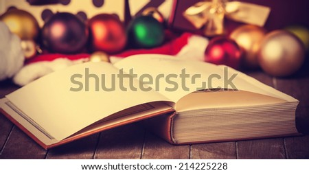 Book and christmas gifts