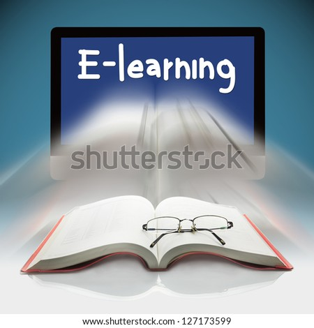 Book and computers, The concept E-learning