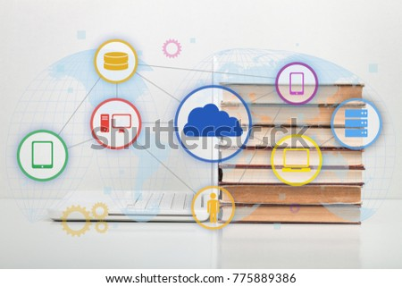Book and icons #775889386