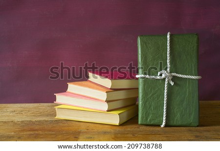 book as a gift,christmas gift, free copy space