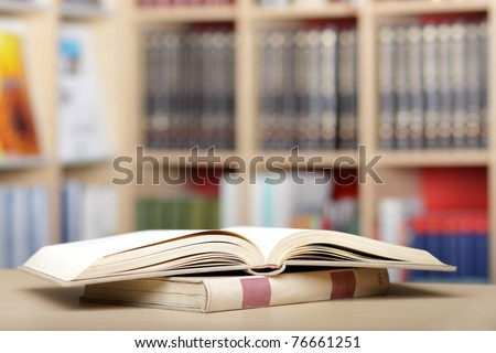 Book background / library abstract